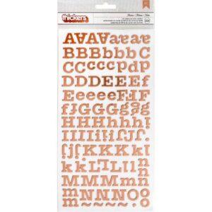 "Алфавит Rose Gold Foiled Chipboard коллекции ""Maggie Holmes Flourish"" от Crate Paper"