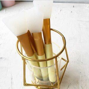 Кисточка силиконовая (для нанесения клея) - цвет светло-желтый