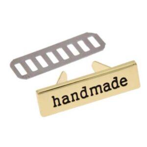 """Лейбл """"Handmade"""" золото"""