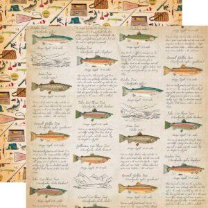 """Лист бумаги """"Fish facts"""" от Carta Bella"""