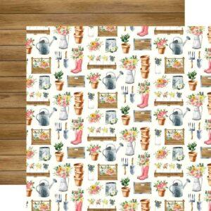 """Лист бумаги """"Market planters"""" от Carta Bella"""