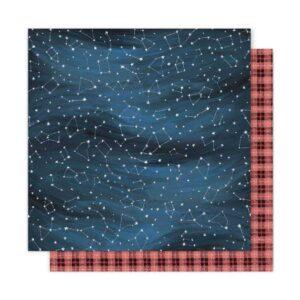 """Лист бумаги """"Night Sky"""" коллекции One Canoe Two Creekside от American Crafts"""