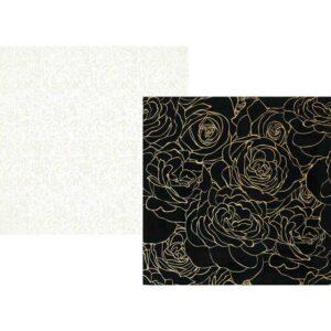 """Лист двухсторонней бумаги с фольгированием """"Always & Forever-Love Story-цветы"""" от  Simple Stories"""