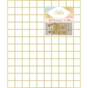 """Металлическая решетка для хранения """"Wire System Grid Panel"""" коллекции """"Storage"""" от Crate Paper"""