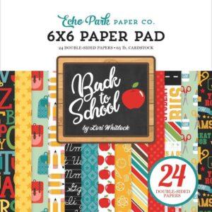 """Набор бумаги 15*15 """"Back to School """" от Echo Park"""