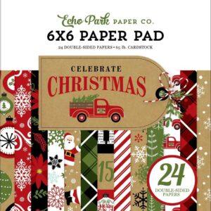 """Набор бумаги 15*15 """"Celebrate Christmas"""" от Echo Park"""