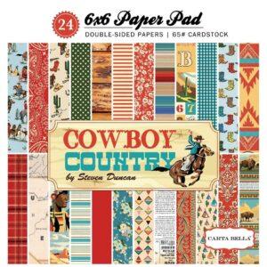 """Набор бумаги 15*15 """"Cowboy Country"""" от Carta Bella"""