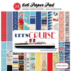 """Набор бумаги 15*15 """" Let's   Cruise """" от Carta Bella"""