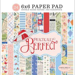 """Набор бумаги 15*15 """"Practically Perfect"""" от Carta Bella"""