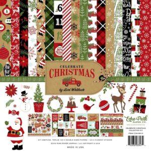 """Набор бумаги 30*30 """"Celebrate Christmas"""" от Echo Park"""