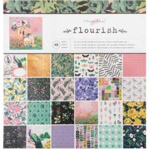 """Набор бумаги 30х30 """"Maggie Holmes Flourish"""" 1/2 от Crate Paper"""