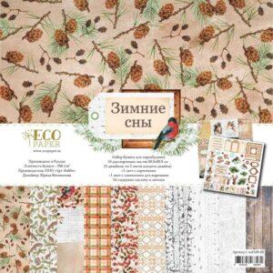"Набор бумаги ""Зимние сны"" от EcoPaper"