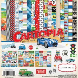 """Набор бумаги коллекции """" Cartopia"""" от Carta Bella"""