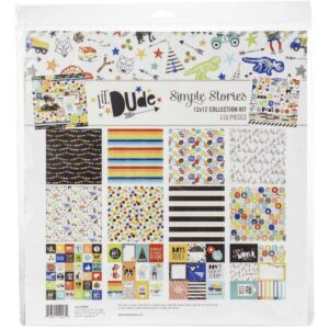 Набор бумаги коллекции «Lil' Dude» от Simple Stories