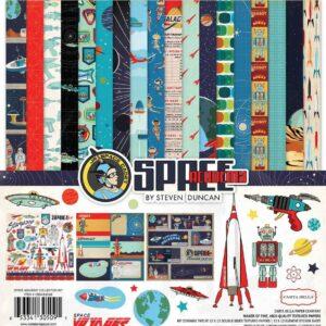 """Набор бумаги коллекции """"Space Academy  """" от Carta Bella"""