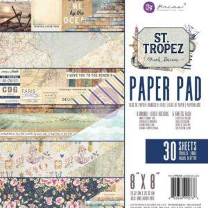 Набор двухсторонней бумаги - 8 x 8 Paper Pad - St. Tropez - Prima Marketing