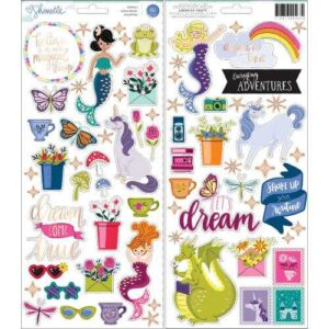 """Набор наклеек Accent & Phrase Shimelle Head In The Clouds Stickers 6""""X12"""" от American Crafts"""
