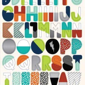 """Набор вырубок из чипборда коллекции """"Imagine That Boy - буквы"""" от Echo Park"""
