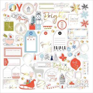 "Набор высечек "" December Days Foiled Die-Cuts"" от Pinkfresh Studio"