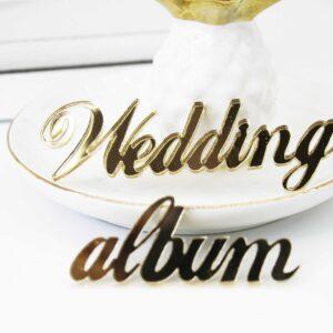 """Надпись из акрила """"Wedding album"""" 3D"""