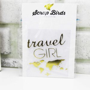 """Надпись из термотрансфера """"Travel girl"""""""