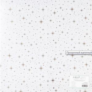 """Прозрачный ацетатный лист с золотым фольгированием """"Мерцание"""" от PolkaDot"""