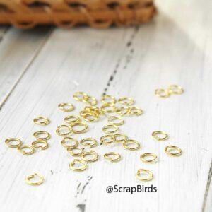 Соединительные колечки 5 мм Золото