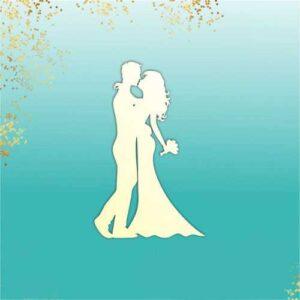"""Заготовка для тиснения """"Свадебная пара"""""""